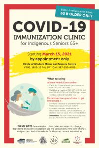 COVID-19 IMMUNIZATION CLINIC for Indigenous Seniors 65+