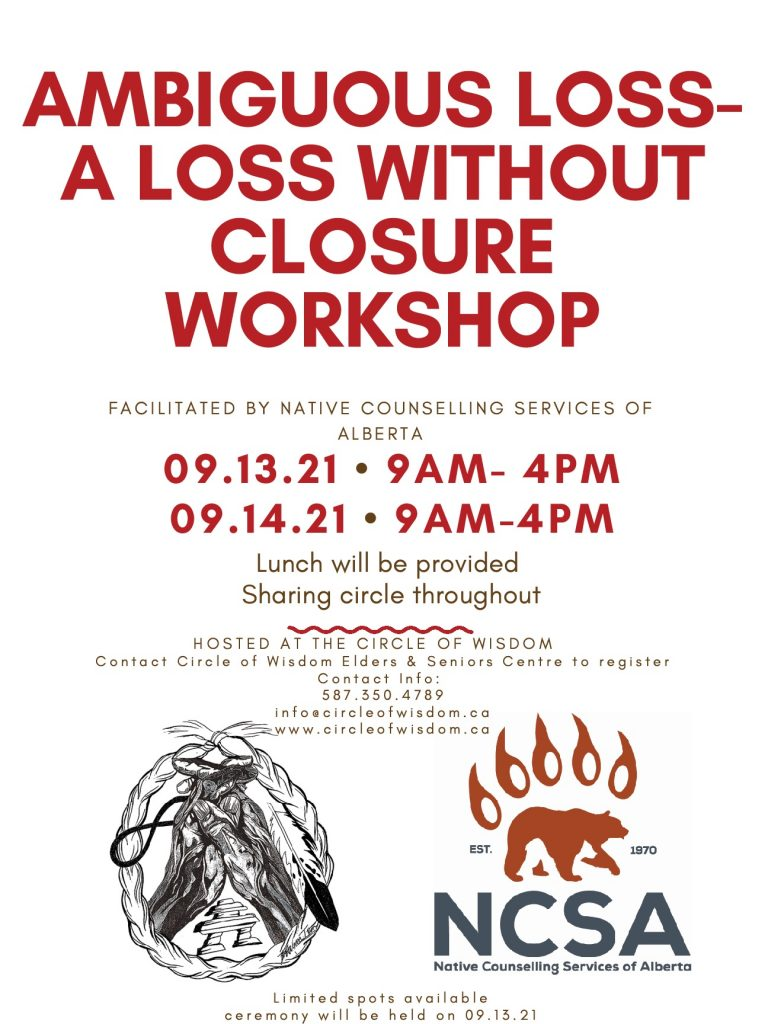AMBIGUOUS LOSS – A LOSS WITHOUT CLOSURE WORKSHOP